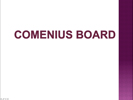 Comenius board